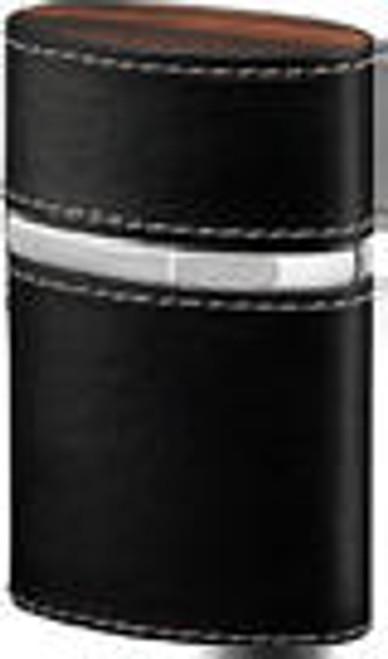 Brizard Triple Jet Soft Leather Black Table Lighter