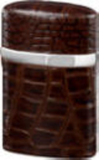 Brizard Triple Jet Crocodile Tobacco Table Lighter