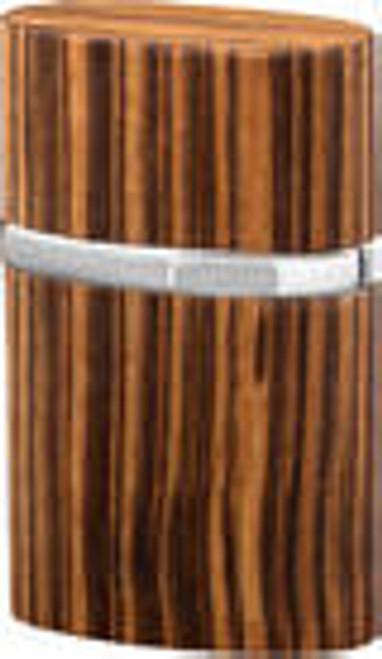 Brizard Triple Jet Zebra Wood Table Lighter