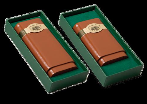 Craftsman's Bench Tan 54- Ring Leather Case
