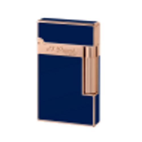 S.T. Dupont Blue Chinese Lacquer and Pink Gold Ligne 2 Lighter