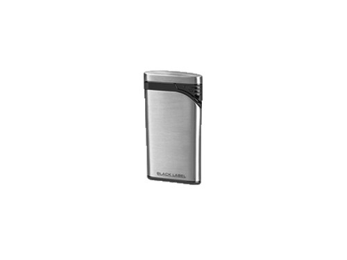 Lotus Stiletto Brushed Chrome & Black Matte Lighter