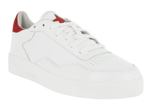 White Trainers with red suede star