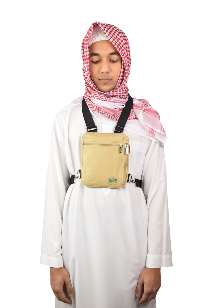 Hajj Safe secure hajj and umrah neck and side bag