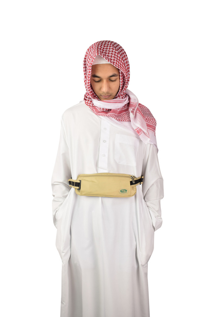 Hajj & Umrah - Anti-Theft Waist Bag & Ihram Belt (Medium)