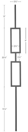 double rectangle iron baluster