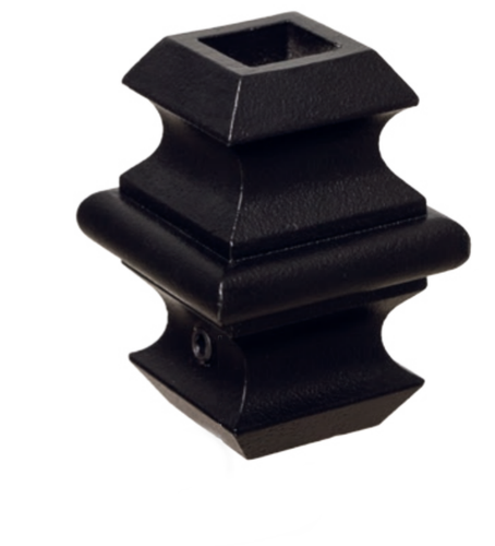 Adjustable knuckles for iron balusters