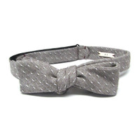 Oatmeal & Cream Bow Tie