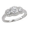 3 Stone Semi-Mount Diamond Ring (118214-040SA)