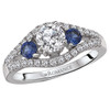 3-Stone Semi-Mount Diamond Ring (118252-050S)