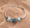 Delaware Beaches® Three Bead Tube Bracelet