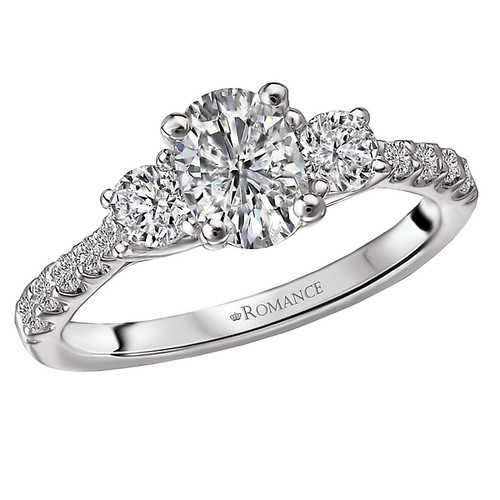 3 Stone Semi-Mount Diamond Ring (117657-100)