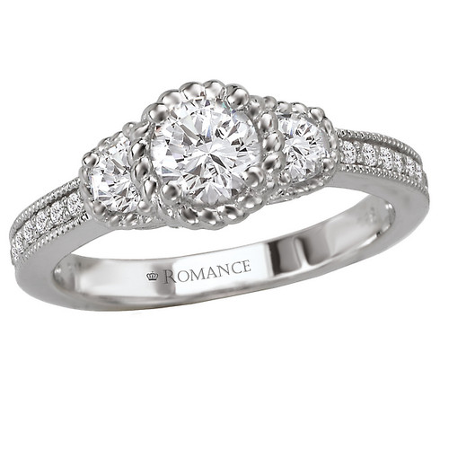 3-Stone Halo Complete Ring (118026-025)