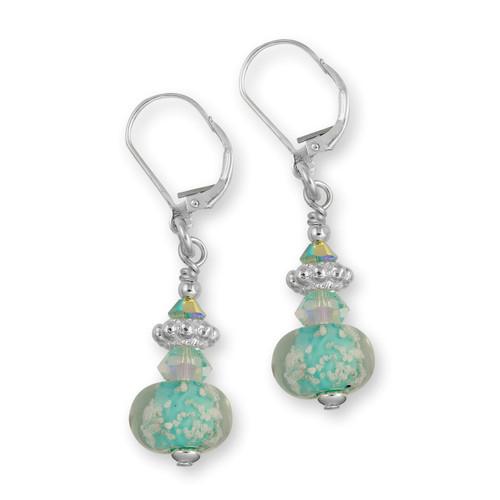 Delaware Beaches® Turquoise Sand Encased Earrings