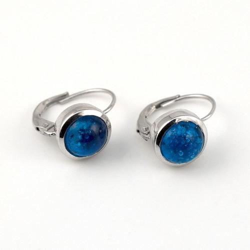 Delaware Beaches® Turquoise Sand Encased Lever Back Earrings