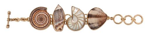 Alchemia Multi-Shell Bracelet (Nautilus)