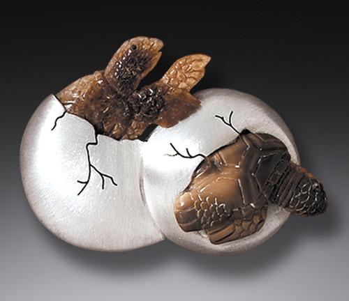 Hatching Turtles Pin/Pendant