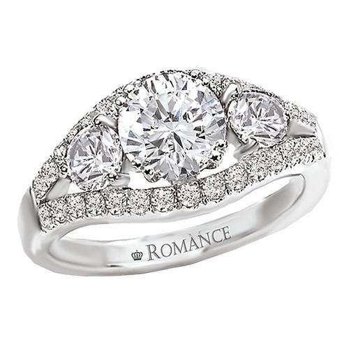 3 Stone Semi-Mount Diamond Ring (117277-100)