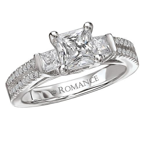 3 Stone Semi-Mount Diamond Ring (117294-100)