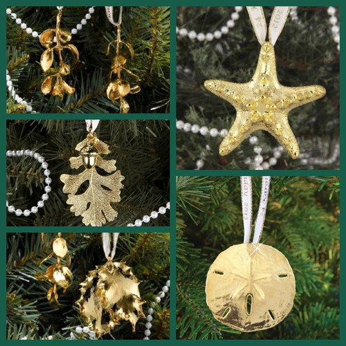 24kt Yellow Gold Dipped Ornament