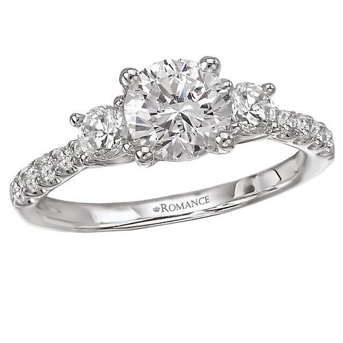 3 Stone Semi-Mount Diamond Ring (117474-100)