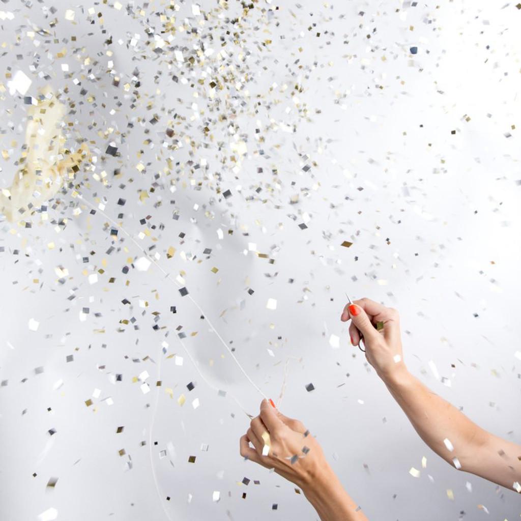 Jumbo Confetti Balloon, Metallic