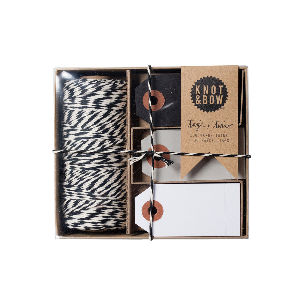 Tag + Twine Box, Natural Black