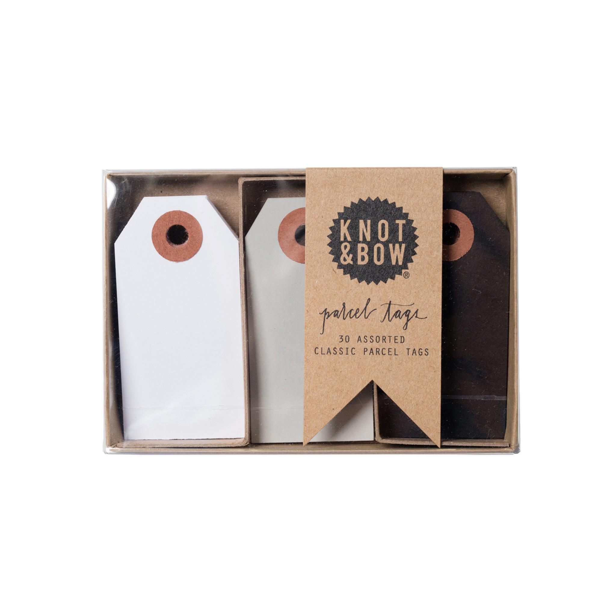 Parcel Tag Trio Box, Black Mix