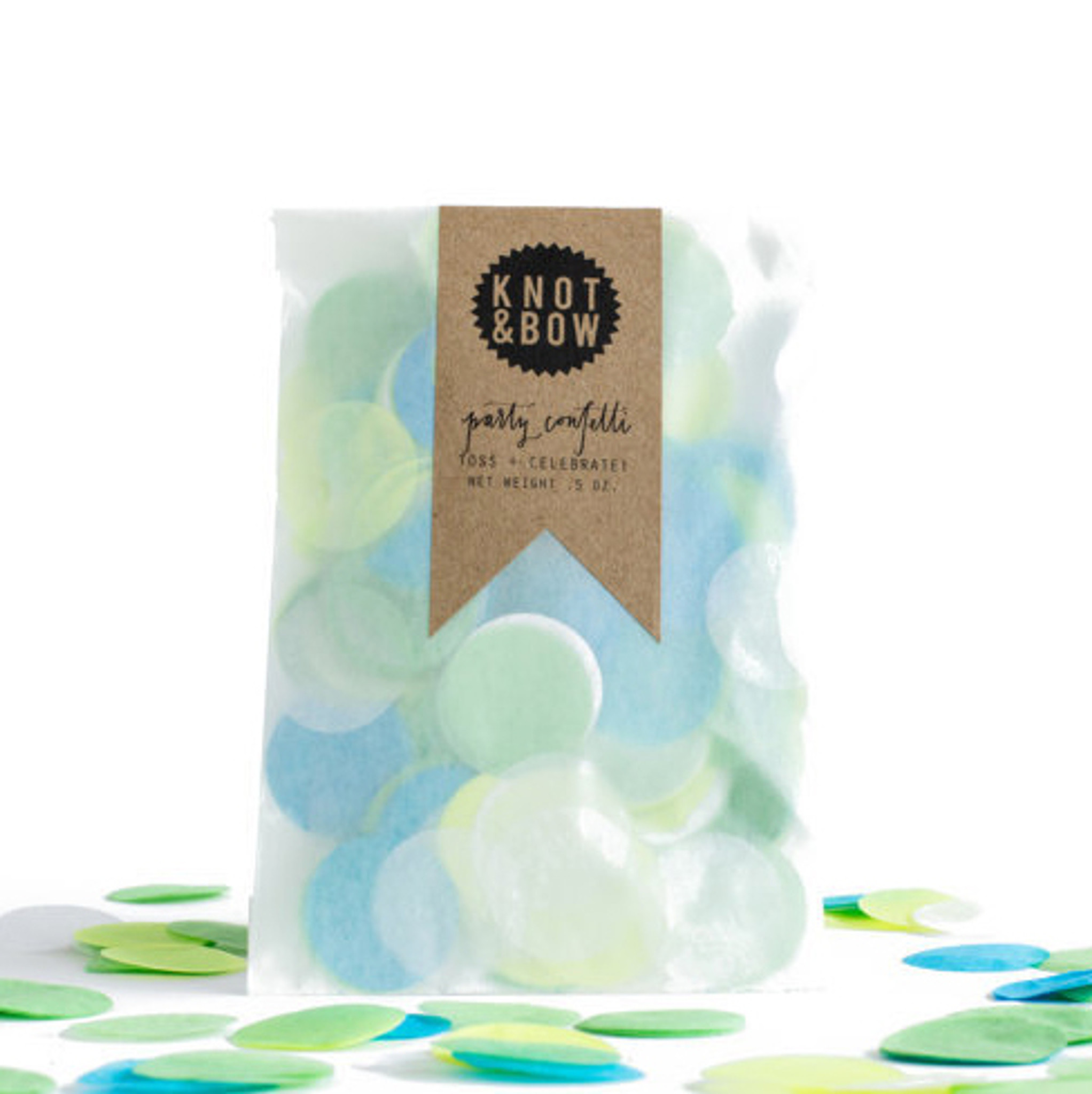 Party Confetti Bag, Blue