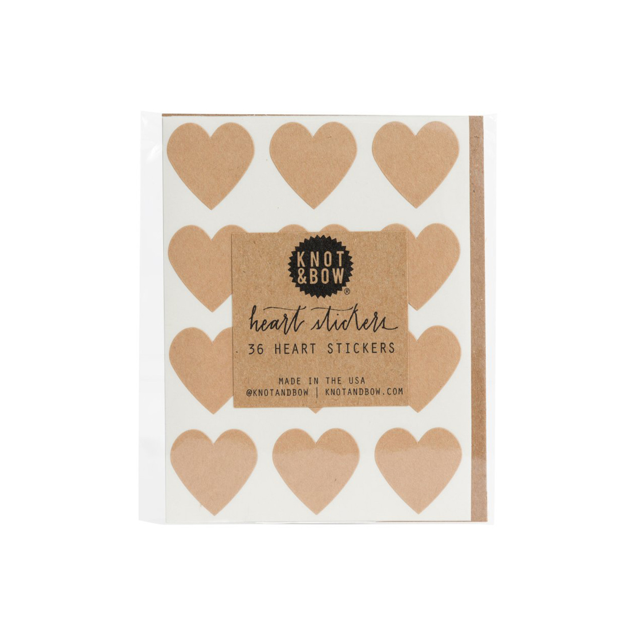 Heart Stickers, Kraft