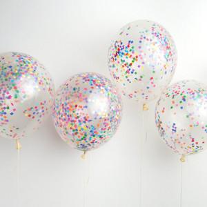 DIY Confetti Balloons, Tiny Rainbow