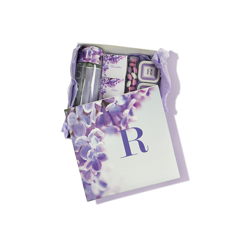 Purple Orchid Design Monogrammed Guest Welcome Package