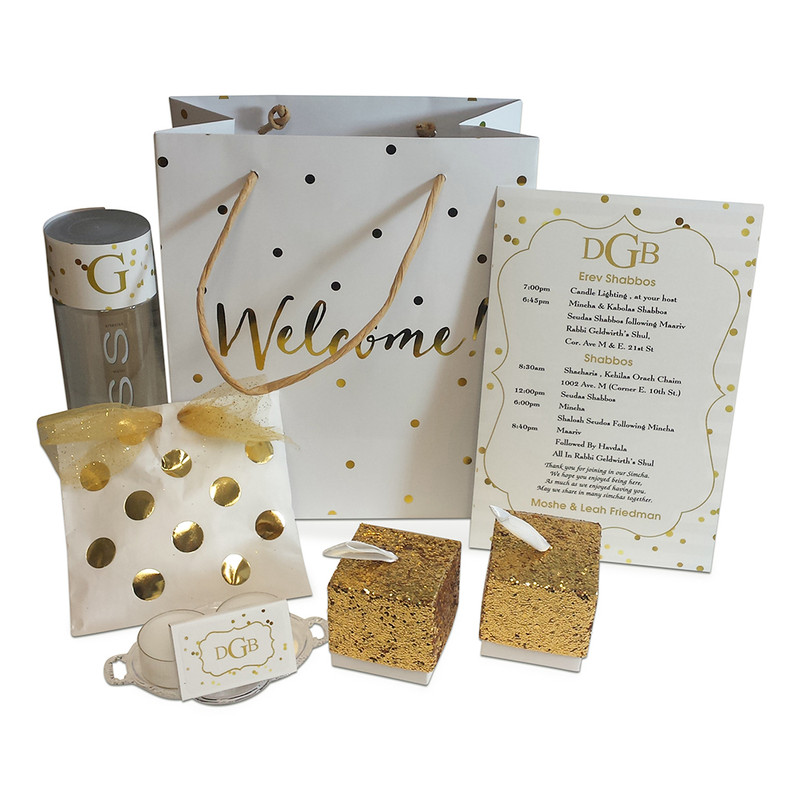 Gold Confetti Guest Welcome Bags