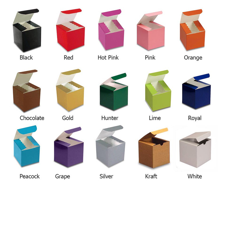 2x2 High Gloss Tuck Top Boxes. 11 Colors Available.