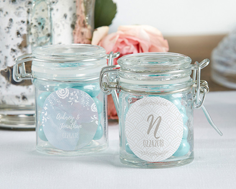 Personalized Glass Favor Jars - Ethereal (Set of 12)