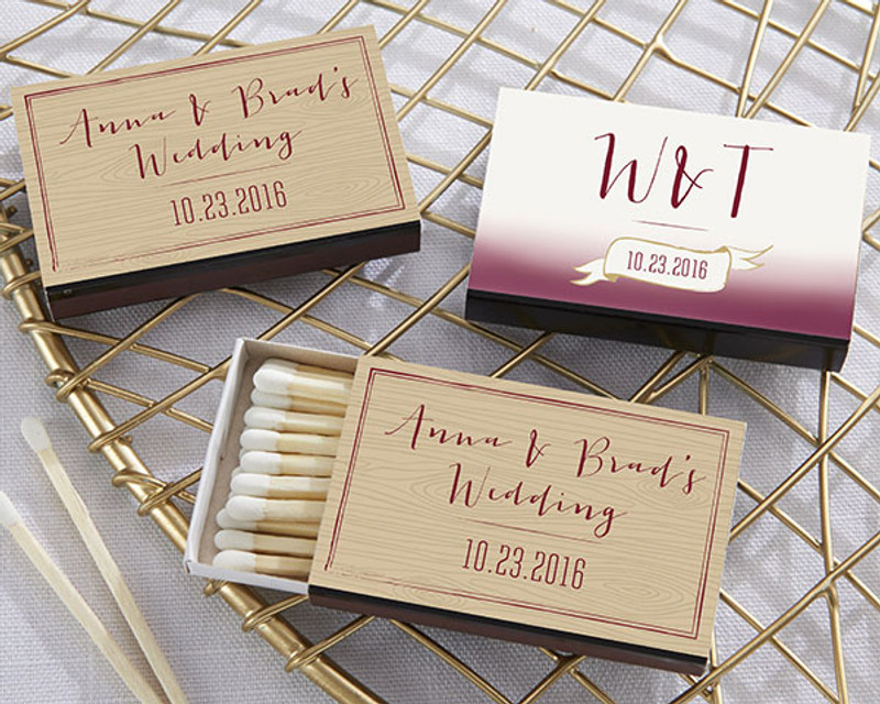 Personalized Black Matchboxes - Vineyard
