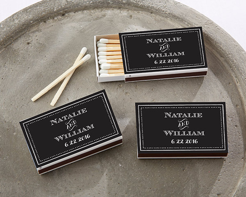 Personalized White Matchboxes - Chalk