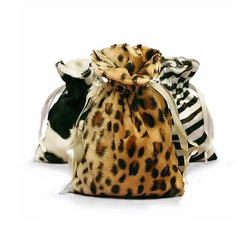 Animal Faux Fur Bag 4 x 6