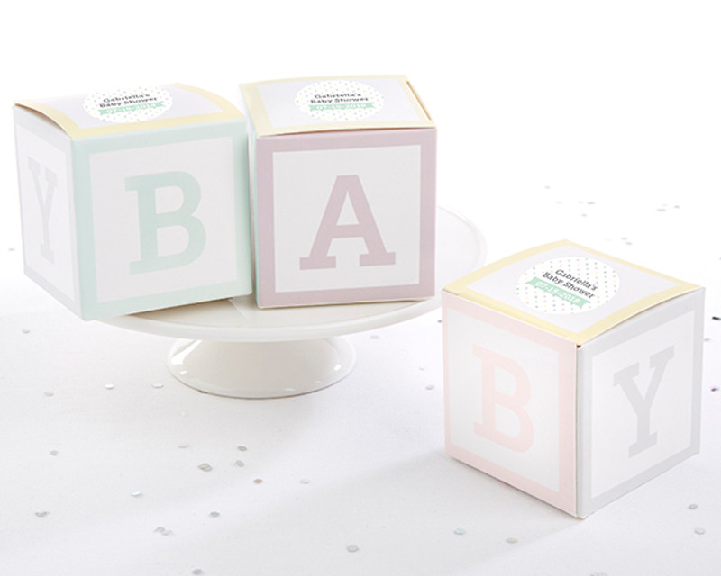 Baby Blocks Favor Box (Set of 24)