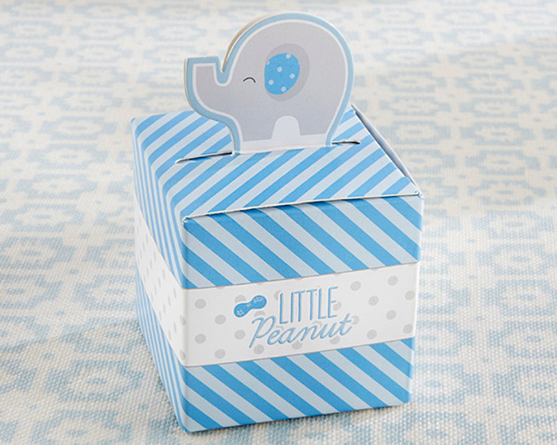 Little Peanut Elephant Favor Box (Set of 24) (Blue)