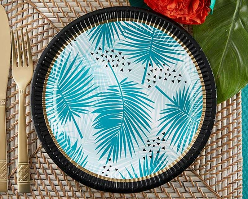 Tropical Chic Paper Plates ((Set of 8) ... & Tropical Chic Paper Plates ((Set of 8) - Itu0027s A Favor