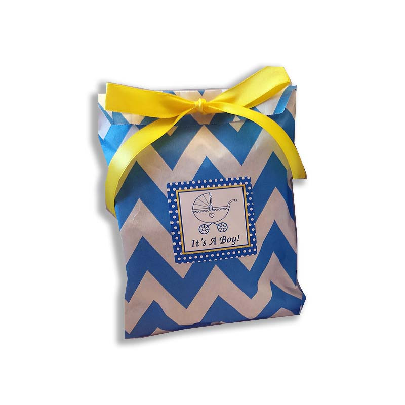 Chevron Vachnacht Peckel Bag with Personalized Label, (Ribbon Sold Separately) More colors available!