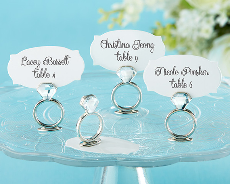 """With This Ring"" Jeweled Place Card/Photo Holder (Set of 6)"