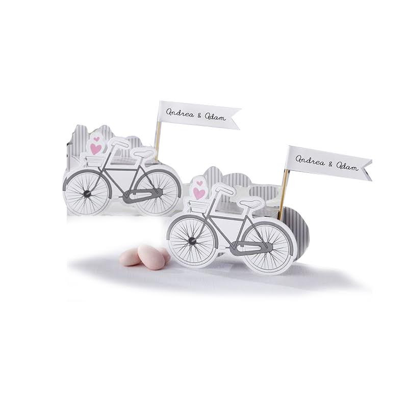 VINTAGE-INSPIRED BICYCLE FAVOR BOX (Set of 24)