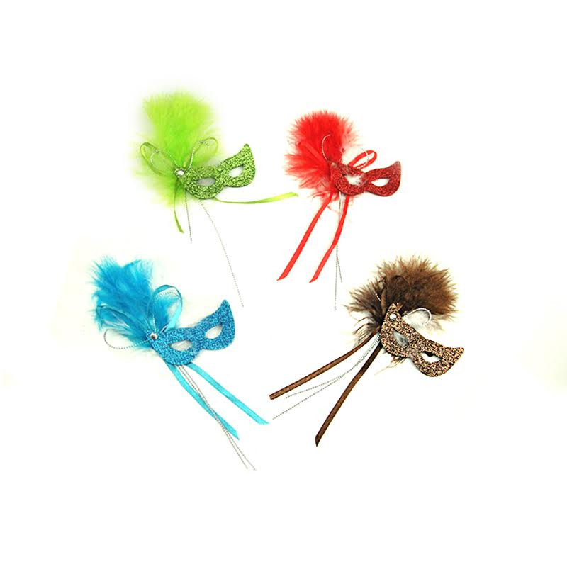"2.25"" Masquerade Masks (17 Colors Available) Set of 12."