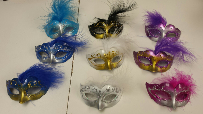 """3"""" Masks. Colors Available. Set of 12"""