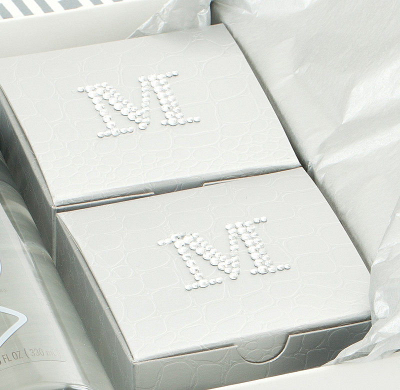 Silver Alligator monogrammed boxes