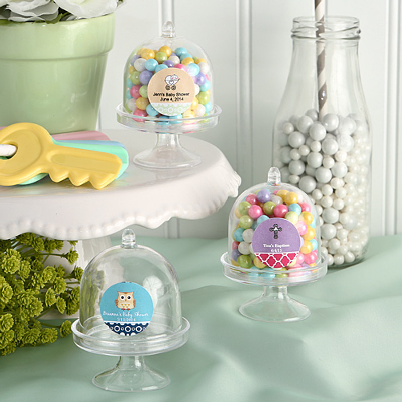 Personalized Mini Cake Stand /  Plastic Box from the Design Your own Collection (See Description Below To Design Your Label)