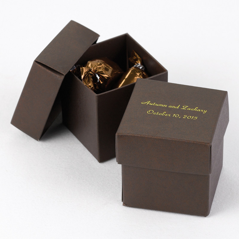Mocha 2 piece Favor Boxes (Pack of 25)