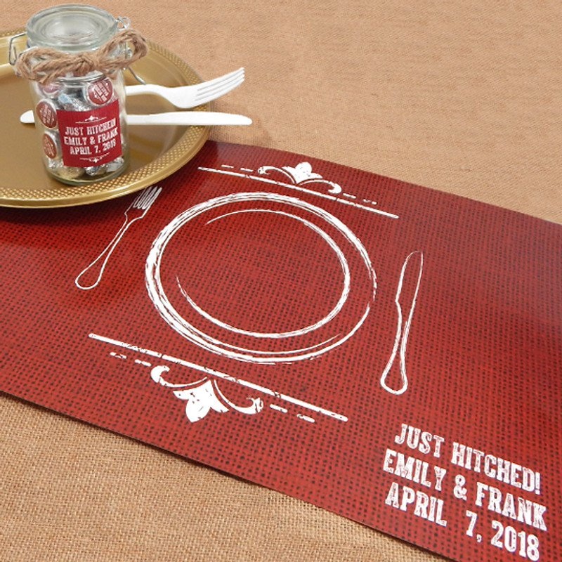 Personalized Placemats-Silhouette Collection, (Many Designs to choose from)